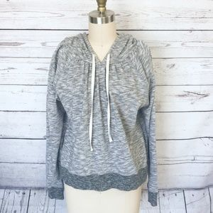VICTORIA'S SECRET Grey Marled LS Hoodie Medium